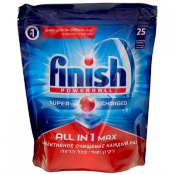 Finish All in 1 max Средство для мытья посуды в посудомоечных машинах 25 таблеток
